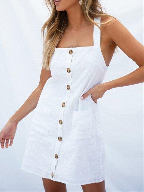 12fcc004c1a1d Justfashionnow Summer Dresses Square Neck Spaghetti-Strap Pockets ...