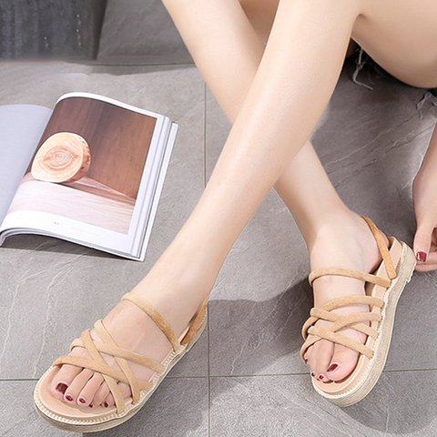 Flat Reversible Sandals Slippers Women