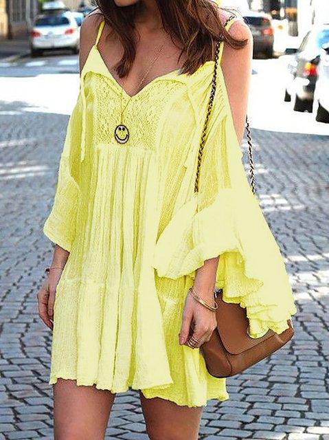 Boho Style Ruffled Holiday Dresses
