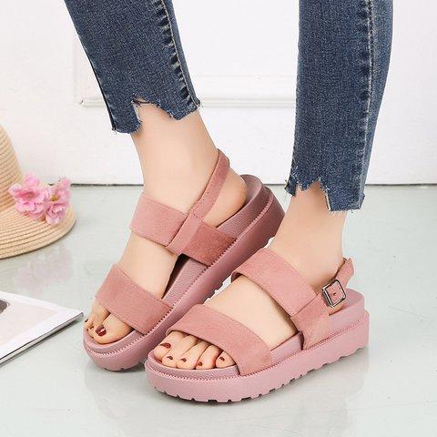 Women's Comfy Sole Open Toe Buckle Strap Summer Sandals