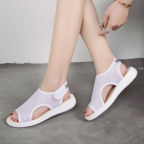 Large Size Casual Women's Shoes Breathable Mesh Comfy Roman  Sandals