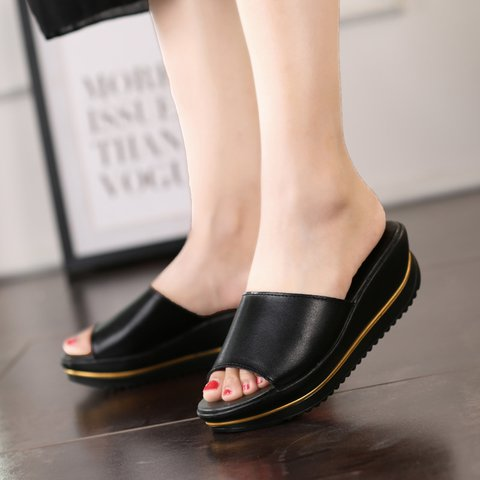 b61f34880e11 Justfashionnow Creepers   Wedges Open Toe Casual Silver Wedge Heel ...
