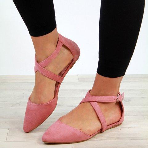 Women Chic Ankle Strap Flats Sandals