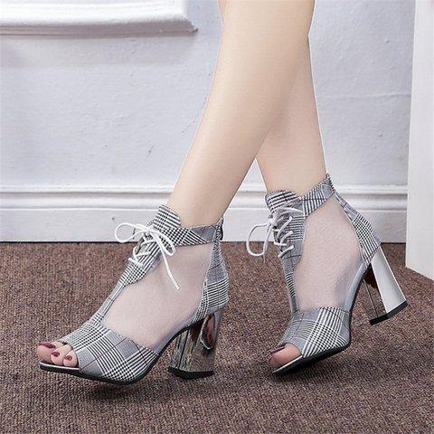 Peep Toe Dress All Season Chunky Heel Sandals