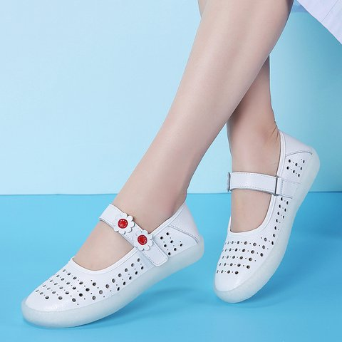 Women's Fashion Comfy Sole Magic Tape Flower Loafers