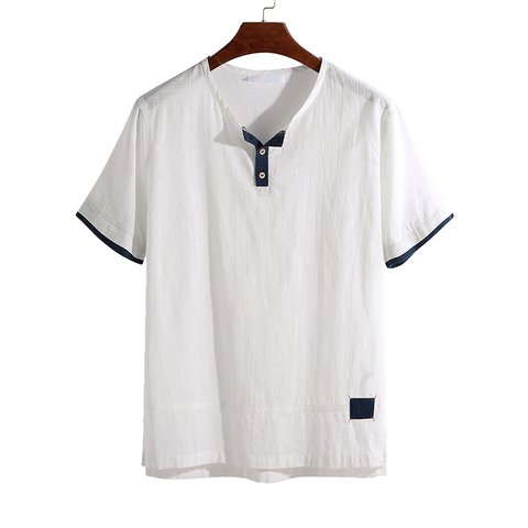 056672056d395 Men s Comfort Cotton T-shirts Summer Casual Short-Sleeves Solid Color Tops  - JustFashionNow.com
