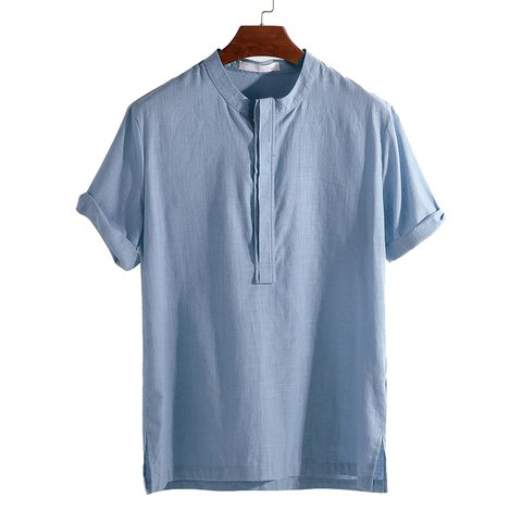 d5848976c45 National Style Men s Shirts Thin Loose Short Sleeve Breathable Casual Shirt  - JustFashionNow.com