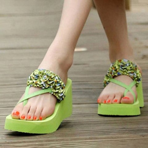 Women Casual Toe Ring Wedge Platform Sandals