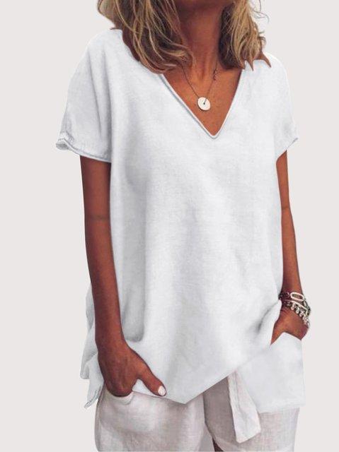 Plus Size Short Sleeve Casual Women Summer T-shirts