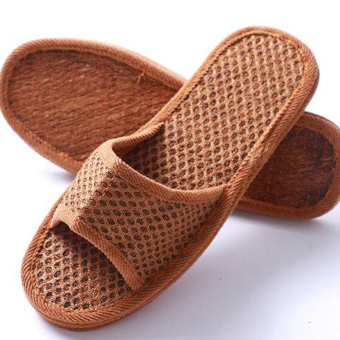 Brown Summer Slippers Ladies Vintage Slip On Slippers