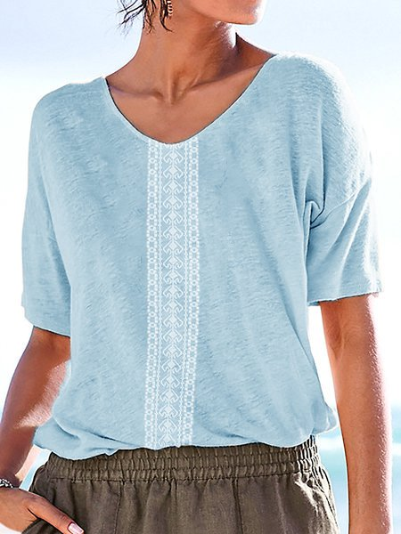 Tribal Printed Boho Short Sleeve T Shirts