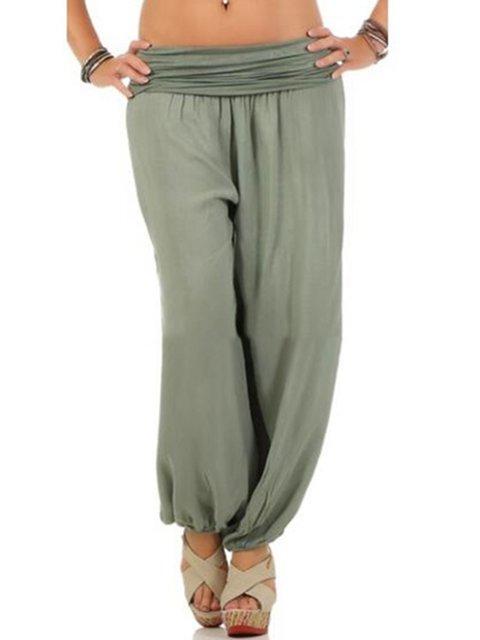 Women Pants Solid Casual Loose Pants