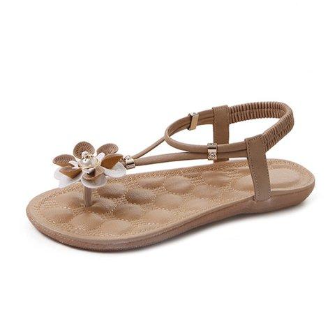 Holiday Summer Flower Thong Flat Sandals