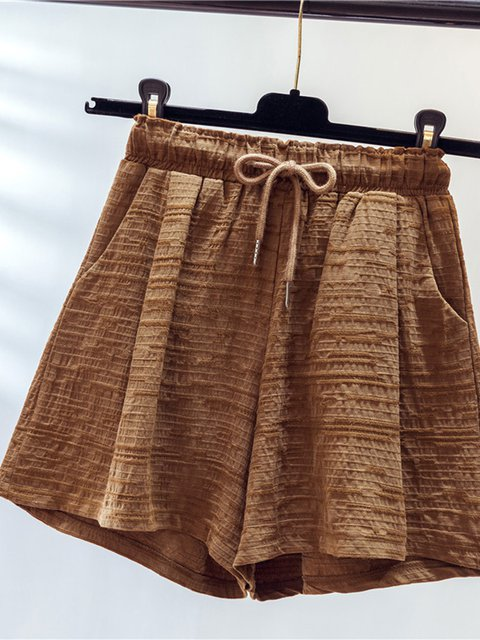 Holiday Gonging out Solid Linen Pants