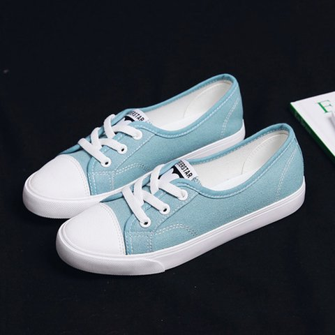 Women Athletic Canvas Sneakers Flat Heel Shoes