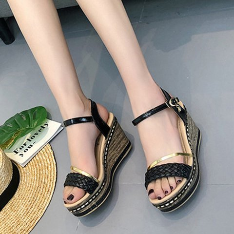 Casual Wedge Heel Summer Braided Sandals