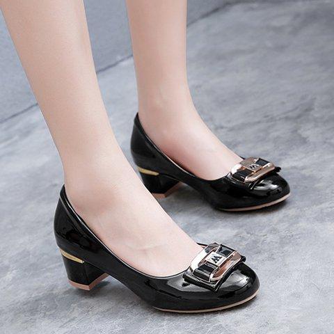 Chunky Heel Casual Shoes Women