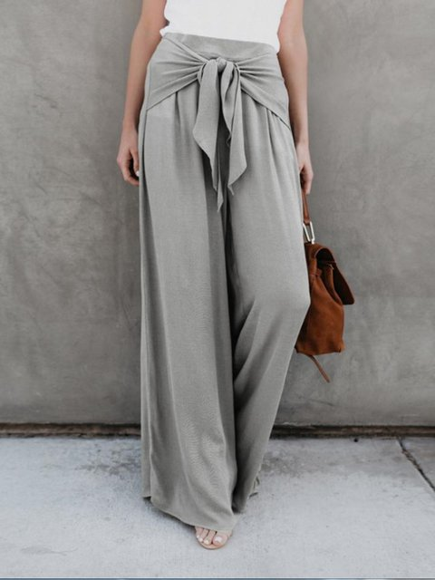 Cotton Solid Holiday Pants