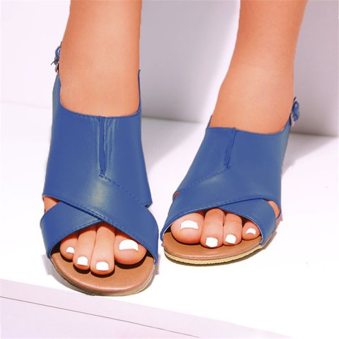 Women Casual Vintage Sandals Buckle Shoes