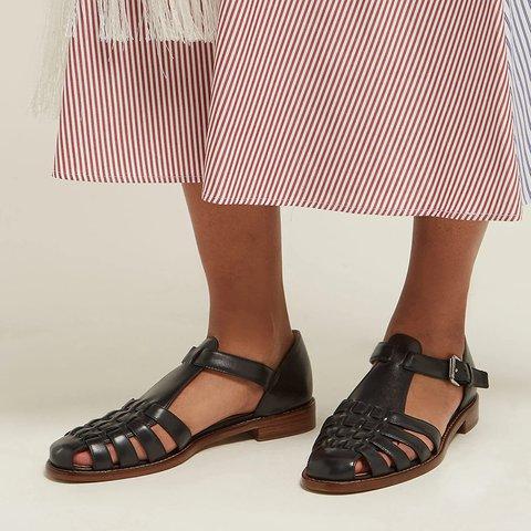 53a7bbdb169e Justfashionnow Sandals Casual Flat Heel White Peep Toe Sandals
