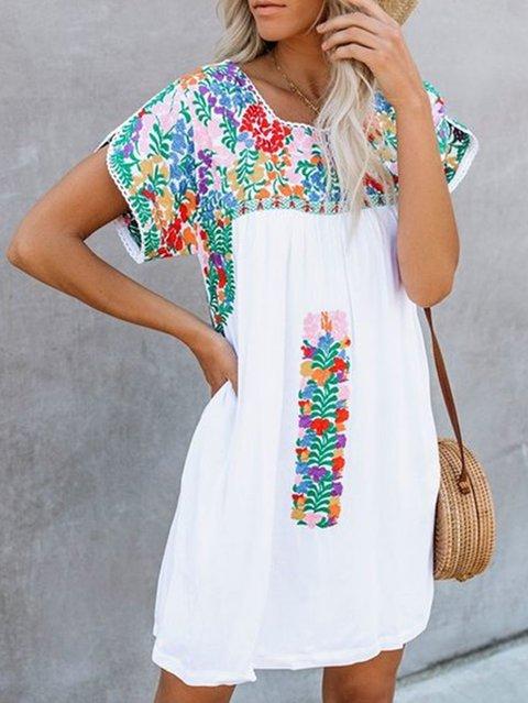 Vintage Short Sleeve Dresses For Women