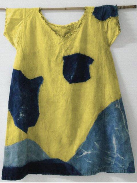 Women Geometric Casual Cotton Crew Neck T-Shirts