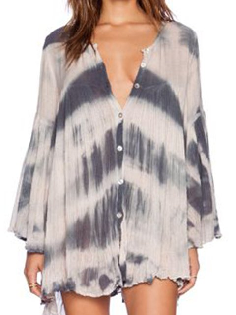 Women Dresses Going Out Casual Ombre/tie-Dye Dresses