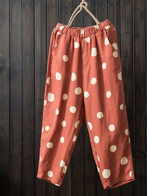Women's Casual Polka Dots Comfort Pants