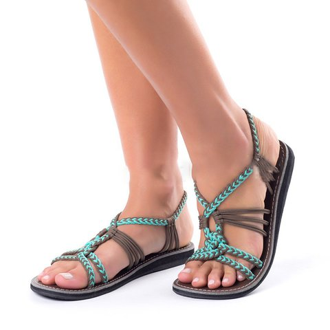 Women Casual Holiday Flat Heel Beach Sandals