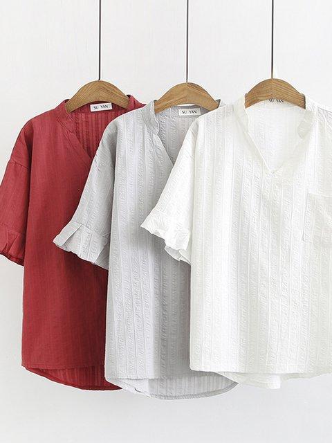 Women Casual Plus Size Tops Tunic Blouse Shirt