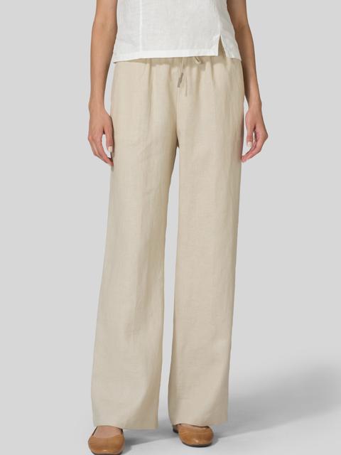 Linen Pockets Solid Pants