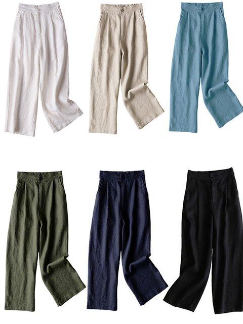 Casual Cotton-Blend Pants