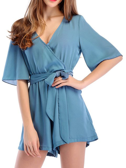 Candy-colored Chiffon Casual Jumpsuit Women's Casual Rompers 5 Colors