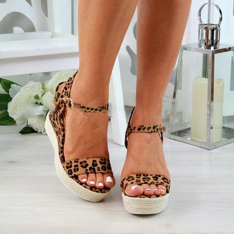 Women Wedge Heel Espadrille Casual Sandals