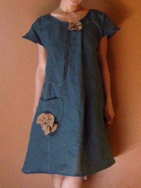 c39ce26d68 Justfashionnow Sundress 1 Vintage Dresses Daytime A-Line Crew Neck ...