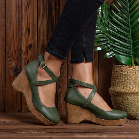 Clogs For Women Closed Toe Shoes Chunky Heels Ankle Strap Sandals