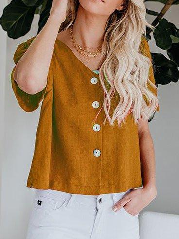 Short Sleeve Cotton Shirts & Tops