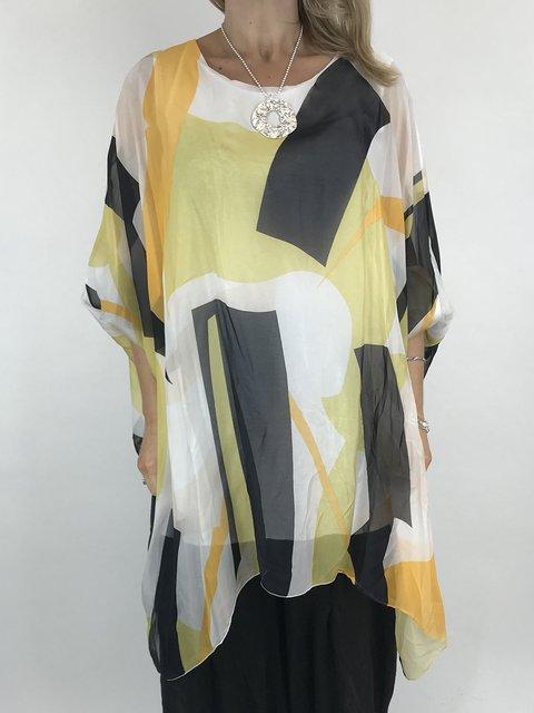 Crew Neck Women Dresses Casual Printed Dresses