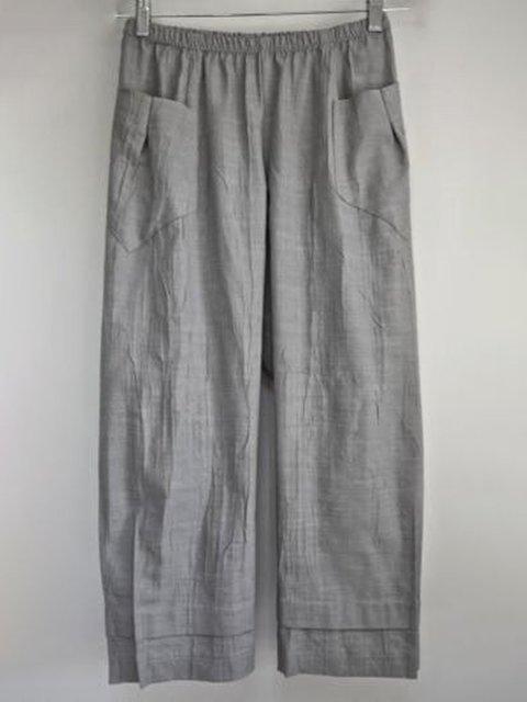 Plus Size Women Pants Pockets Casual Shift Capri Pants