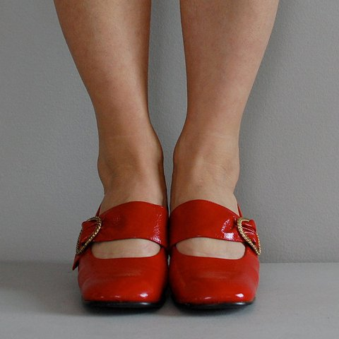 Womens Mary Jane Loafers Chunky Heel Cut Out Shoes