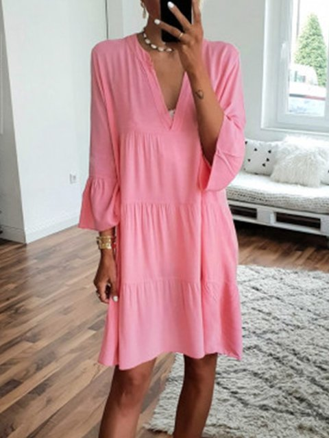 dc48b1c0921 Justfashionnow Summer Dresses Sundress Beach V Neck Paneled Bell ...