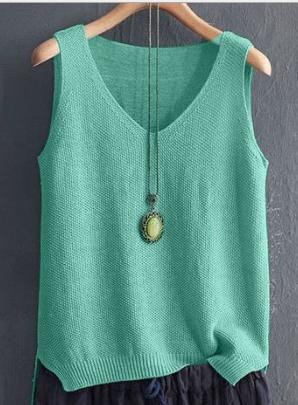 Holiday Solid Sleeveless Shirts & Tops