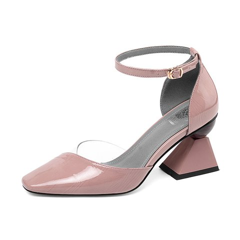 Chic Leather Spring/fall Chunky Heel Date Shoes
