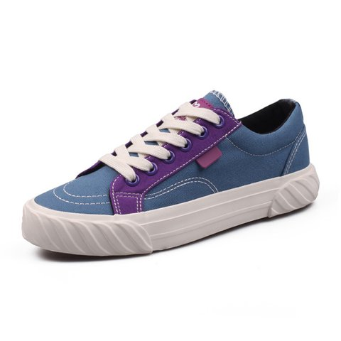 Women Athletic Canvas Sneakers Casual Comfort Lace Up Shoes