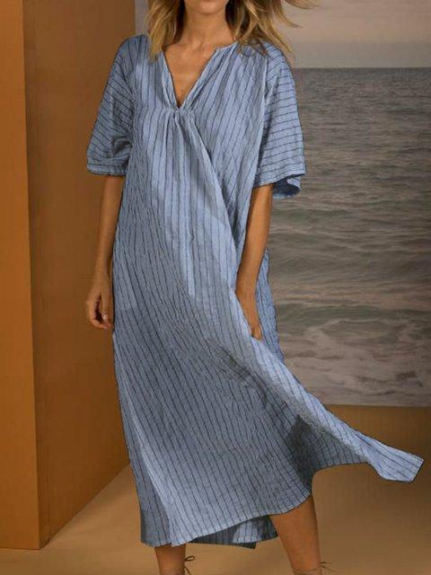 Women Summer Dresses Daily Holiday Linen Dresses