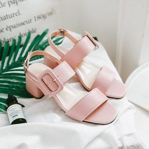 Date Pumps Sandals Casual Adjustable Buckle Shoes