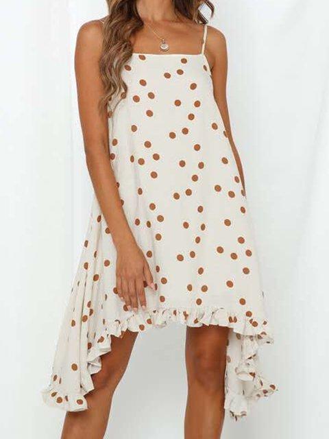 Women's Polka-dot Dress Summer Casual Sling Dresses