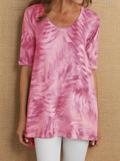 Abstract Printed Half Sleeve Shirts