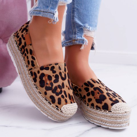 Women Espadrille Flat Loafers Casual Slip On Shoes