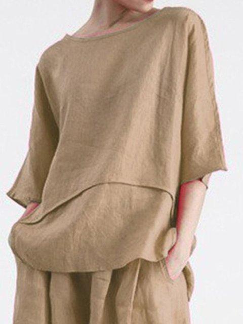 Plain Half Sleeve Cotton Holiday Shirts & Tops